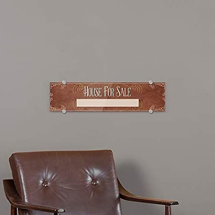 CGSignLab 5-Pack 24x6 Victorian Card Premium Brushed Aluminum Sign House for Sale