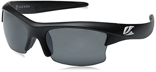Kaenon Men's S-Kore Polarized Shield Sunglasses, Matte Black & White - Kore Kaenon Sunglasses