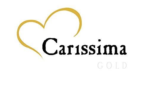 Carissima Gold Cadena con colgante de oro blanco de 9 quilates (375/1000), circonita