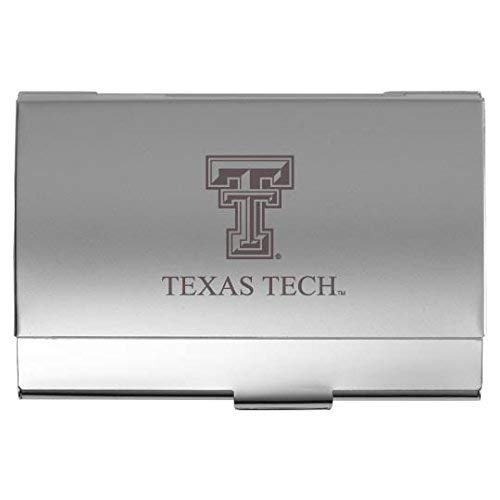 (LXG, Inc. Texas Tech University - Two-Tone Business Card Holder - Silver)