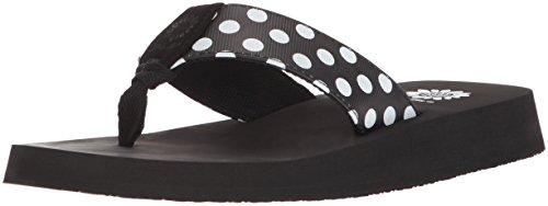 Yellow Box Women's Zadie Flip-Flop, Black White, 9 M US
