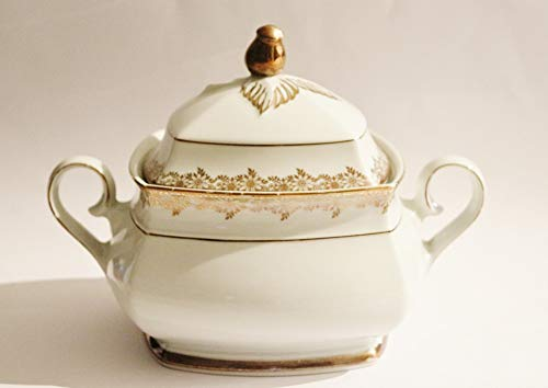 Photography Poster - Soup Tureen, Antique, Gold Edge, 24