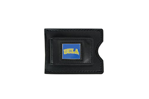NCAA UCLA Bruins Men's Leather Money Clip and Card Case, (Ucla Bruins Black Leather)