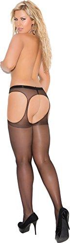 Plus Size Women's Sheer Suspender Pantyhose ()