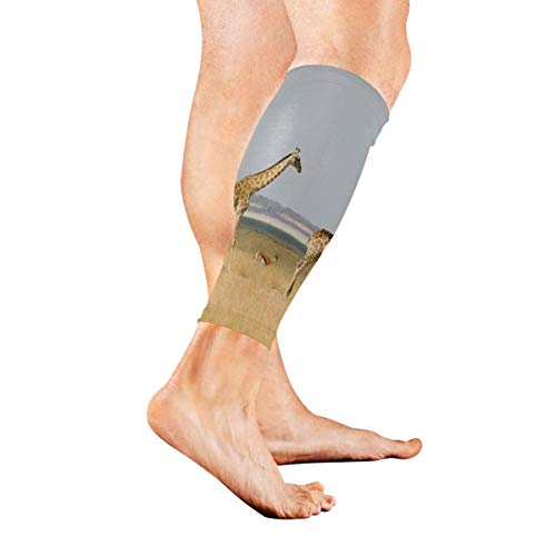 KMAND Leg Sleeve Giraffe Zebra Compression Socks Support Non Slip Calf Sleeves Pads - Improve Circulation for Shin Splint, Calf Pain Recovery, Running, Cycling, Travel, 1 Pair