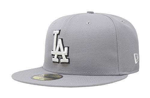 2015 Fleer Mlb Baseball - hat Dodgers Gray Baseball Fitted Cap (7 7/8)