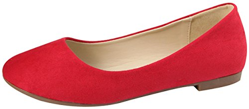 Marie Women's Red Colorful Toe Bella Pointed Ballet Flat v5qWWd