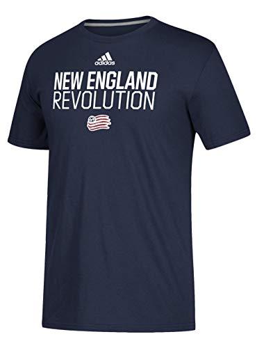 adidas New England Revolution Locker Room Go-to Performance Tee-Collegiate Navy-XL