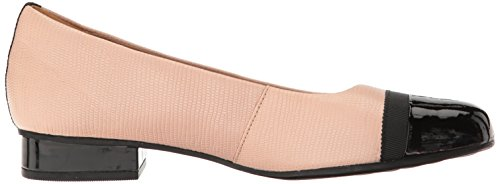 Clarks Women's Keesha Rosa Pump, Bronze Snake Leather, 6 M US Dusty Pink Leather