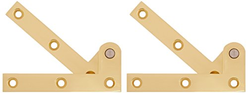Deltana Polished Hinges (Deltana PH35U3 Solid Brass 3 7/8-Inch x 5/8-Inch x 1/4-Inch Pivot Hinge)