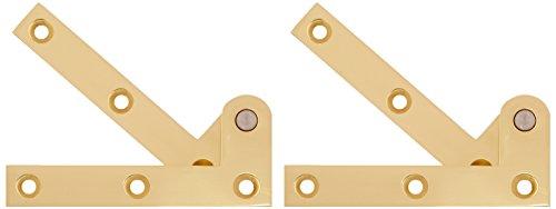 Deltana PH35U3 Solid Brass 3 7/8-Inch x 5/8-Inch x 1/4-Inch Pivot Hinge - Solid Brass Pivot Base