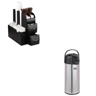 KITBUNAIRPOT22EMSCAD01BLK - Value Kit - Bunn Coffee Airpot Carafe (BUNAIRPOT22) and Ems Mind Reader Llc Coffee Organizer (EMSCAD01BLK) by Unknown