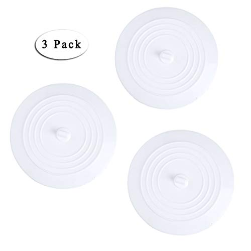 Boseen Silicone Drain Stopper Plug Kitchen, Bathroom, Laundry (6 Inches, Pack of 3) by Boseen