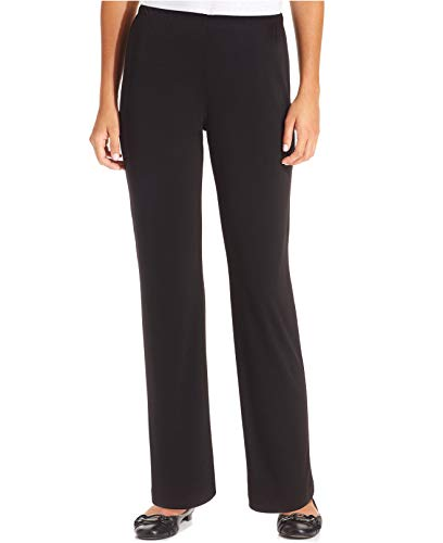 - NY Collection Women's Straight Leg Matte Jersey Pants (PL, Black)