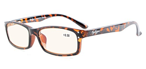 Eyekepper Spring Hinges with UV Protection, Anti Blue Rays, Anti Glare and Scratch Resistant Lens Computer Glasses Tortoise