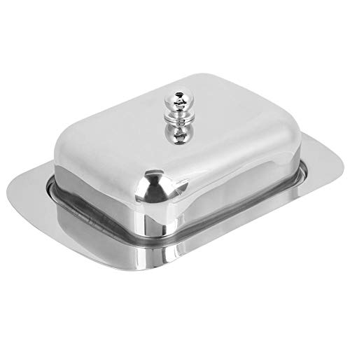 - Butter Dish  Stainless Steel Cheese Dish Tray Good Grips Butter Box Food Storage Dessert Container Keeper with Lid