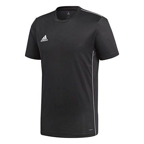 (adidas Men's Core18 Jersey, Black/White, Medium)