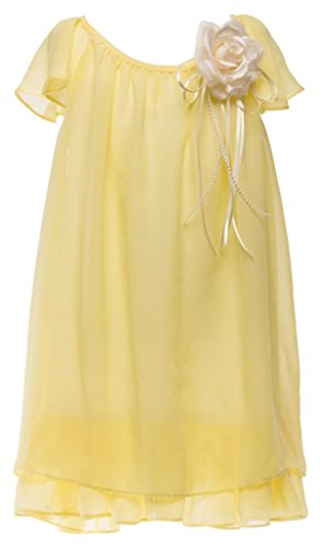 Chiffon Baby Doll Gown (iGirlDress' Big Girls' Precious Chiffon Baby Doll Flower Girls Dresses 12 Yellow)