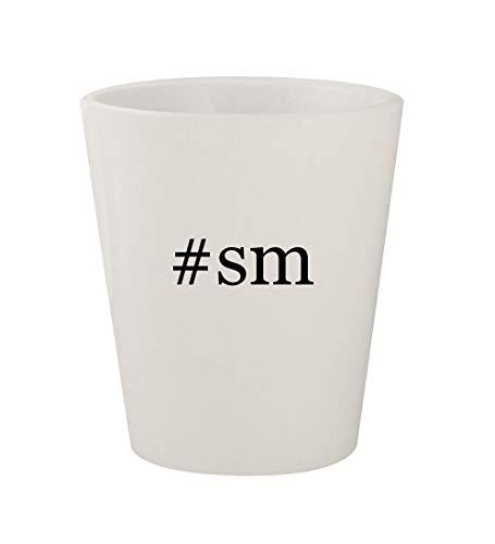 Price comparison product image #sm - Ceramic White Hashtag 1.5oz Shot Glass