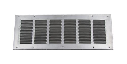 Louvered Foundation Vent with Screen and Damper - Aluminum 8x16 (Aluminum Foundation Vents)