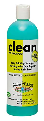 SHOW SEASON ANIMAL PRODUCTS 1 Clean Shampoo for Dogs and Cats with Great Long Lasting Scent ()