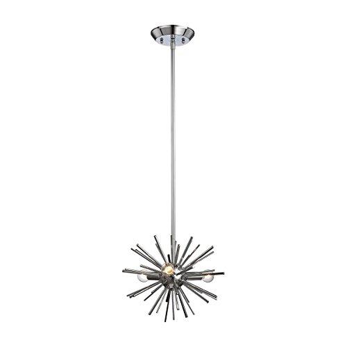 Dimond 1140-026 Starburst Pendant, 3-Light 180 Total Watts, Polished Chrome