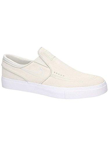 NIKE Men's Zoom Stefan Janoski Slip White/Light Bone White Skate Shoe 10 Men US
