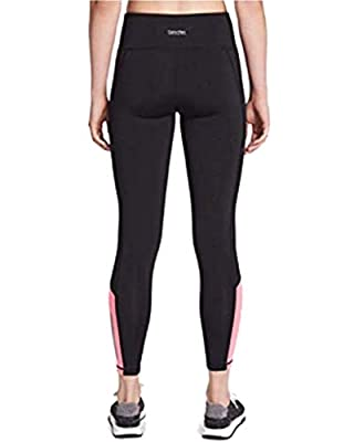 Calvin Klein Performance Women's Colorblocked Side-Zip Leggings, Black (S)