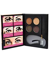 Beauty Treats Eyebrow Kit - 4 Eyebrow Powders, 3 Stencils, 1 Brush Applicator