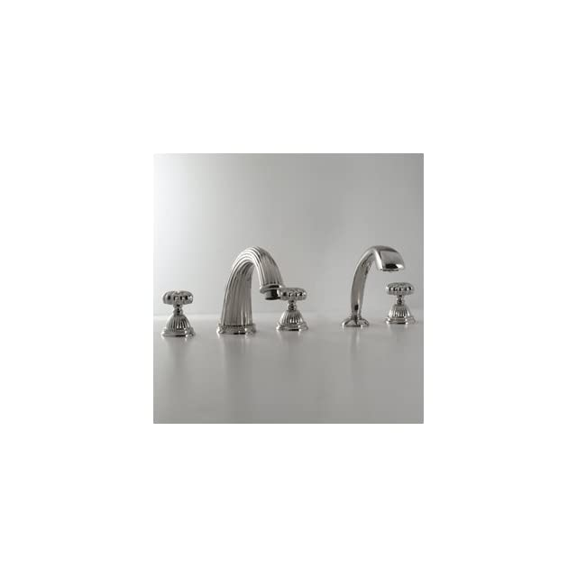 Santec 1155TT TM10 10 20 Polished Chrome/Orobrass Bathroom Faucets 4 PC Roman Tub Filler Faucet With Handshower   Plumbing Equipment