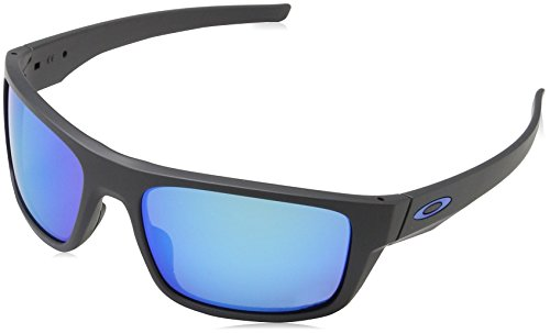 Oakley Men's Drop Point Polarized Iridium Rectangular Sunglasses, Matte Dark Grey Prizm Sapphire - Point Lenses Oakley Drop