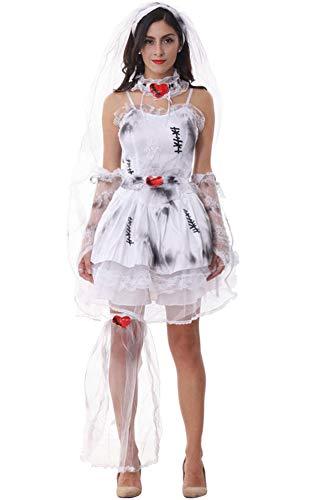 Bloody Bride Costume - Honeystore Ghost Bride Demon Costume Vampire