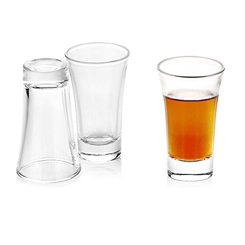 Enindel 2-Ounce Whiskey Shot Glass 3-Pack Heavy Base Shot Glass Set (1# 2-Ounce Set of 3)