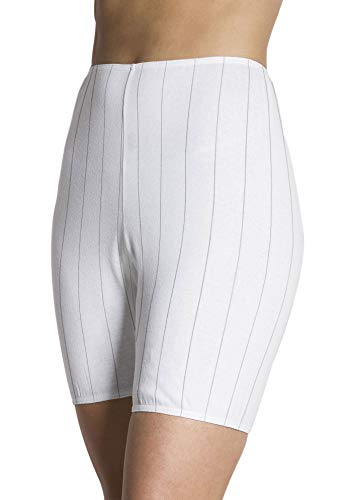 Comfort Choice Women's Plus Size 3-Pack Cotton Bloomer - White, 8 -