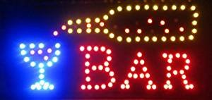 Open Bar Led Neon Business Motion Light Sign. On/off with Ch