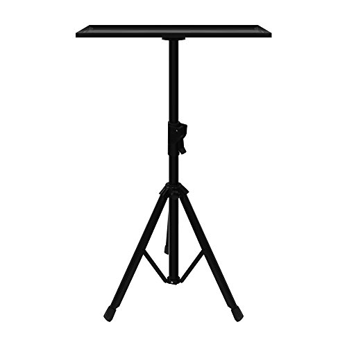 JaeilPLM Projector, Laptop Stand. Universal, Height Adjustable Multipurpose Heavy Duty Floor Tripod 21″ – 38″. Portable Holder Tray. Great for DJ Equipment, Studio, Stage, Home Theater, Office.