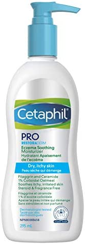 Cetaphil PRO Restoraderm Eczema Soothing Moisturizer With Colloidal Oats, Ceramides and Filaggrin - Lotion For