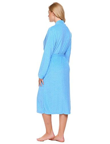 Corgy Women Robe Cotton Terry Lightweigt Belted Kimono Spa Bathrobe with Pockets by Corgy (Image #4)