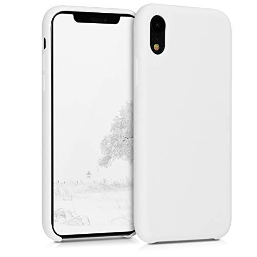 Solid Case White - kwmobile TPU Silicone Case for Apple iPhone XR - Soft Flexible Rubber Protective Cover - White