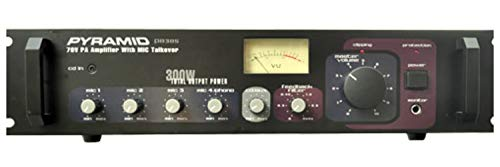 300 Watt PA Amplifier - 70V Output & Mic Talkover - Rack Mountable