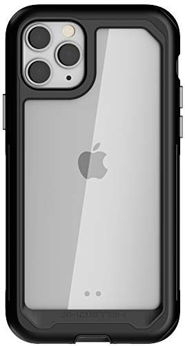 """Ghostek Atomic Slim Designed for iPhone 11 Pro Case Clear Metal Phone Cover (5.8"""") Tough Heavy Duty Military Grade Shockproof Protection Wireless Charging Compatible 2019 iPhone 11 Pro (5.8"""") - Black"""