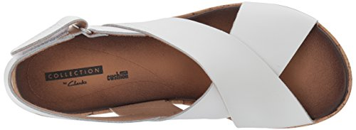 Stasha Leather Sandal Women's Wedge Clarks White Hale4 zq5w76qxv