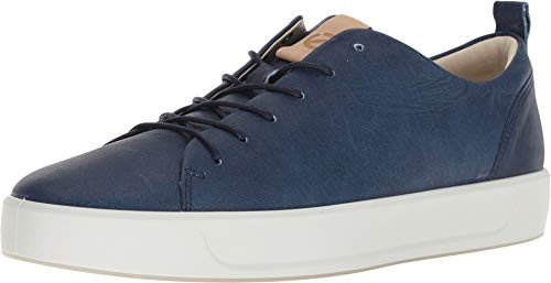 - ECCO Men's Soft 8 Sneaker Indigo 5/Powder Blue Moon 39 M EU M