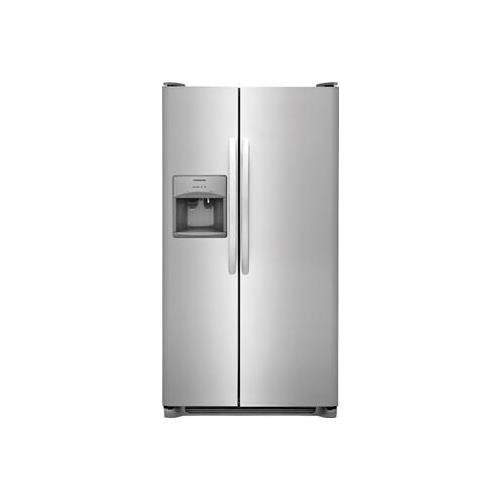 Frigidaire FFSS2615TS 36 Inch Side by Side Refrigerator with 25.5 cu. ft. Capacity, External Water Dispenser, Ice Maker, in Stainless Steel (Best Side By Side Refrigerator Brand)