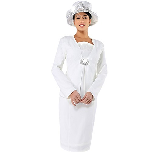 Kueeni Women Church Suits With Hats Church Dress Suit For Ladies Formal Church Clothes,Black Suits Hats,008 by Kueeni