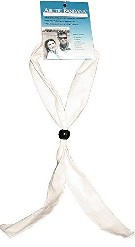 Arctic Cooling Bandana Neck Coolers Neck Cooling Scarf - White