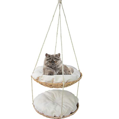 JLFAIRY Cat Hammock Hanging Nest Four Seasons Cat Swing Double Cat Litter Cat Tree Cat Jumping Cat Rack Removable Washable Bed Pet Bed