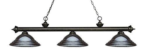 Riviera Traditional Ceiling Fan - Z-Lite 200-3GB-SGM Riviera 3 Billiard Light