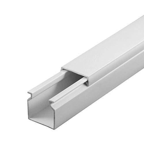 SCOS Smartcosat SCOSKK78 20 m Kabelkanal (L x B x H 2000 x 16 x 16 mm, PVC, Kabelleiste, Schraubbar) weiß B07BB2S73V | Am praktischsten