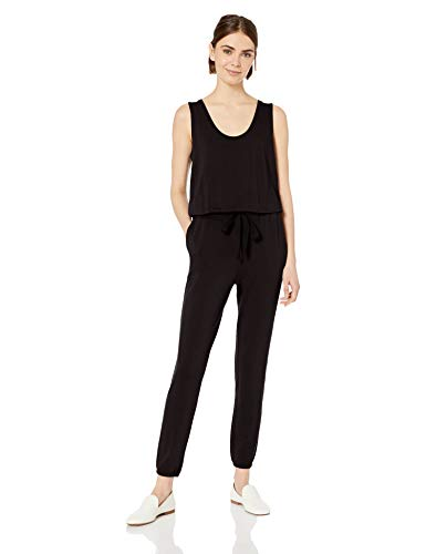 (Amazon Brand - Daily Ritual Women's Supersoft Terry Sleeveless Jumpsuit, Black, XX-Large)